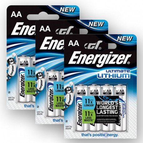3 x Baterie Energizer Ultimate Lithium 1,5V (AA) - 4 KS